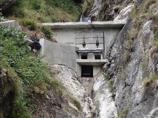 Construction de la prise d'eau de FONT-FREDE